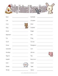 photo about Animal Trivia Questions and Answers Printable named Printable Child Animal Reputation Video game